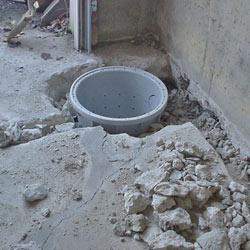Placing a sump pit in a Homer City home