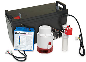 a battery backup sump pump system in Brookville