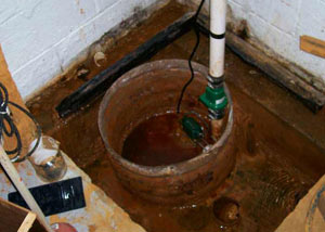 Extreme clogging and rust in a Brookville sump pump system