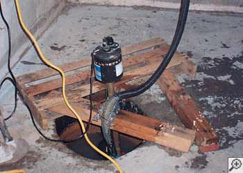 A Salamanca sump pump system that failed and lead to a basement flood.