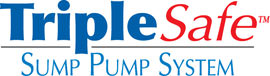 Sump pump system logo for our TripleSafe™, available in areas like Kersey