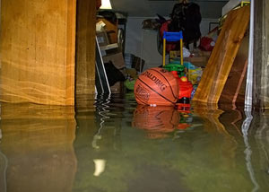 A flooded basement bedroom in Smethport