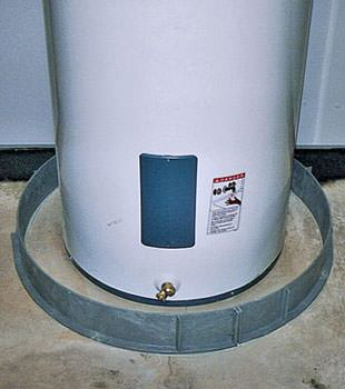 An old water heater in Emporium, PA and NY with flood protection installed