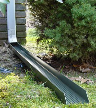 Gutter downspout extension installed in Randolph