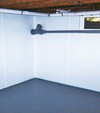 Plastic basement wall panels installed in a Clarion, Pennsylvania and New York home