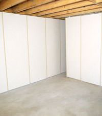 Unfinished basement insulated wall covering in Clarion, Pennsylvania and New York